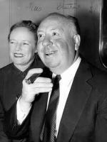 Alfred Hitchcock cu sotia sa