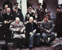 Winston Churchill, Franklin Roosevelt si Iosif Stalin la Ialta in 1945