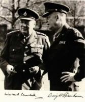 Dwight Eisenhower si Winston Churchill in nordul Frantei, iunie 1943