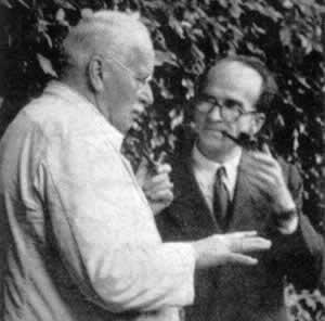 Mircea Eliade si Karl Gustav Jung, in Ascona,1952