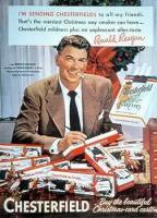 Ronald Reagan facand reclama la tigaretele Chesterfield