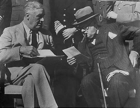 Franklin D. Roosevelt si Winston Churchill